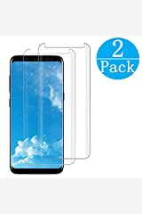 Compatible Samsung Galaxy S8 Tempered Glass Screen Protector,[2 - Pack][9H Hardness][Anti-Scratch][Anti-Fingerprint][3D Curved][Ultra Clear] Screen Protector for Galaxy S8 Wireless Phone Accessory
