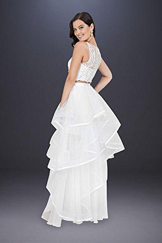 David Mariée Robe De Mariée En Deux Pièces Brodé De Style Haut 1711p2732 Blanc