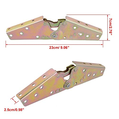 1Pair Adjustable Sofa Bed 0 Degree/45 Degree/75 Degree Angle Mechanism Hinge 230mm Length angle hinge connector hardware