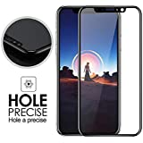 "iPhone X Screen Protector, 3D Curved Tempered Glass Screen Protector Film [Anti-Bubble][9H Hardness][HD Clear][Anti-Scratch][Case Friendly] for Apple iPhone X [5.8"" inch]"