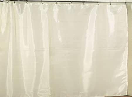 Carnation Home Fashions Extra Wide Fabric Shower Curtain Liner 108