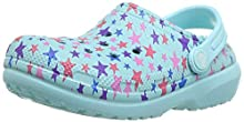Crocs Kid's Classic Printed Lined Clog, Ice Blue, 12 M US Little Kid
