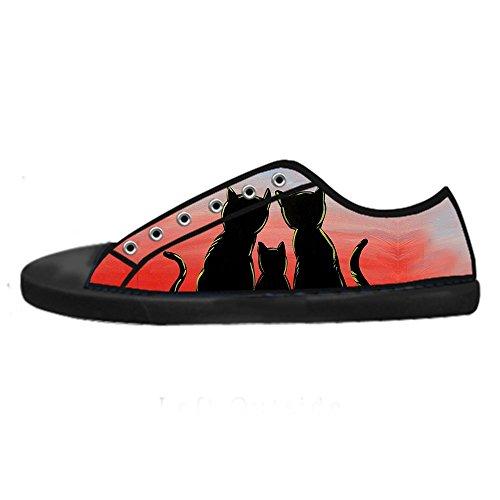 Custom Gatto del fumetto Mens Canvas shoes I lacci delle scarpe in Alto sopra le scarpe da ginnastica di scarpe scarpe di Tela. Sale Barato El Más Barato Compras En Línea Barato En Línea ZlC1ptPdLP
