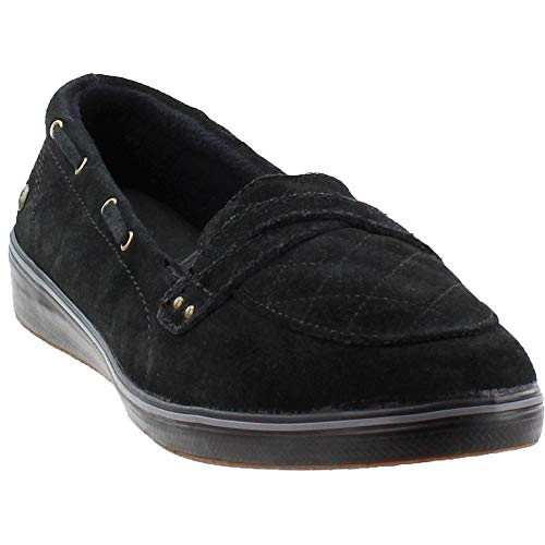 1a70f205f6 Grasshoppers Women's Windham Suede Boat Shoe Black 8 M US available ...