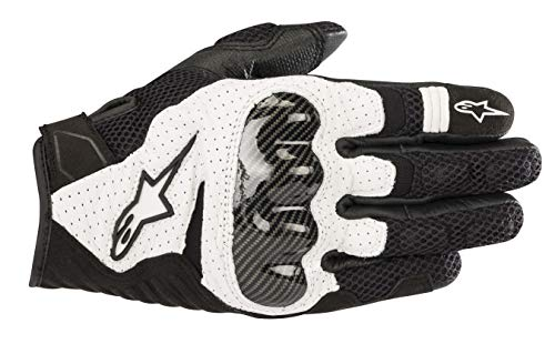 Alpinestars SMX-1 Air V2 Motorcycle Riding/Racing Glove (Large, Black/White)
