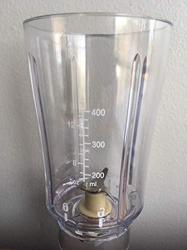 Beach Blender Jar Hamilton Replacement (Hamilton Beach Single Serve Blender Jar 990014500 Used on 51101 51101B 51101BZ 51102 51103)