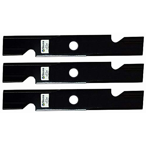 Stens Pack of Three 355-229 Notched Air Lift Blades