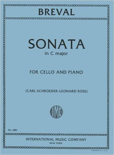 Breval, Jean Baptiste - Sonata In C Major for Cello and Piano - by Schoreder/Rose - International