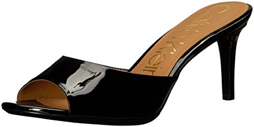 - Calvin Klein Women's Luc Heeled Sandal, Black, 7 Medium US