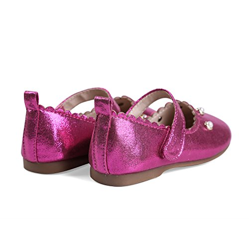 Ballet KM Janes Dress Girl's Toddler EIGHT Mary Fuchsia Flats Shoes amp; EKM701 wF7dWzXq