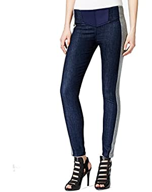 Guess Gray Women's 30X28 Denim Stretch Seamed Pants Blue 30