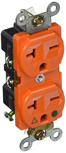 Morris 82238 Isolated Ground Duplex Receptacle, 20 Amp Current, 250V, (Red Duplex Cables)