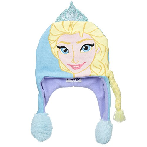 Flipeez Girls Disney Frozen Princess Elsa Beanie Ski Warm Winter Hats for Kids