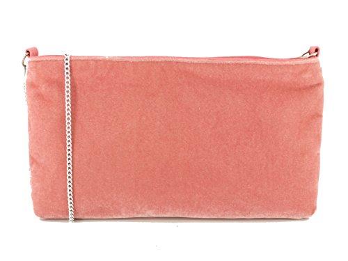 LONI - Cartera de mano con asa para mujer morado morado Medium Peach Pink