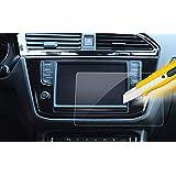 HIGH FLYING Protector de visualización táctil de Vidrio Templado para VW Volkswagen Tiguan Touran Atlas, 2 Piezas, 8 Inch For Tiguan Atlas Touran