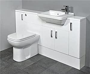slimline sinks bathrooms slimline gloss white bathroom furniture 1500mm square 14478