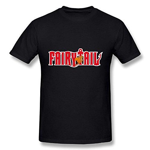 TisEEaZs Mens Tshirt-Vintage Fairy Tail Black 4XL