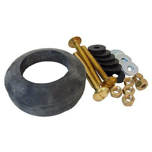 - LASCO 04-3809 Toilet Tank To Bowl Bolt Kit Brass Bolts with Washers, Hex/Wing Nuts, Gasket, for Norris or Mansfield Toilets