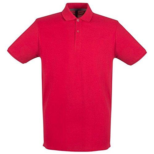 Henbury - Polo - para hombre Rojo Vintage