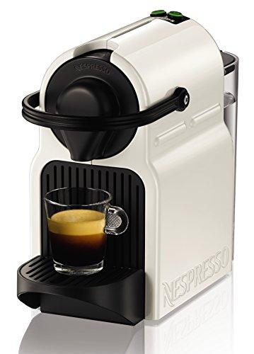 Krups Inissia - Cafetera Nespresso, color blanco, 16 capsulas