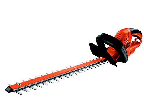 Black+Decker 500W Elektro-Heckenschere, 55 cm Messerlänge, 22 mm Schnittstärke, asymmetrischer Klingenschliff, GT5055