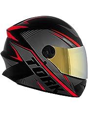 Capacete Pro Tork Moto Fechado R8 Viseira Dourada