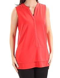 RALPH LAUREN Lauren Jersey para Mujer (Cuello en V, Talla M), Color Naranja