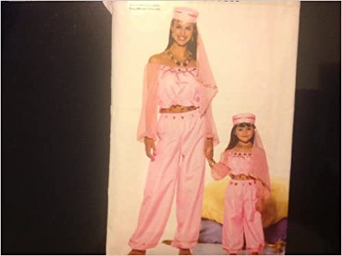 Butterick P420 Sewing Pattern for Mother Daughter Genie Belly Dancer ...