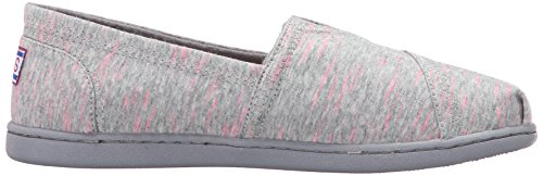 Skechers Bobs Damesbliss Fashion Slip-on Vlak Grijs Flecked