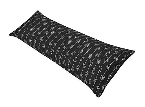 (Sweet Jojo Designs Black and White Woodland Arrow Body Case Cover for Rustic Patch Collection (Pillow Not Included))