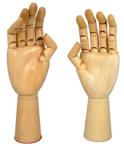 US Art Supply Manikin Hands Pair Left and Right Hand