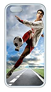 iPhone 5 5S Case Shot Football TPU Custom iPhone 5 5S Case Cover White