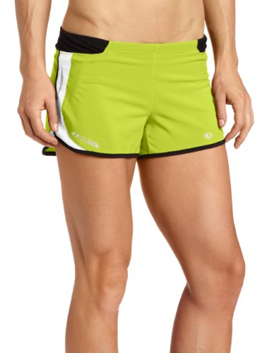 Pearl iZUMi Women's Fly Split Short, Lime, Large - Lime Time Pearl