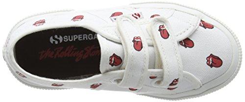 Superga Fancovj, Zapatillas Unisex Niños Blanco (904 White Red)
