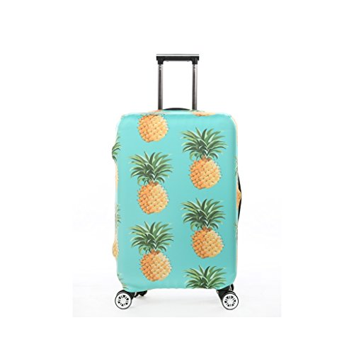 Fvstar Pineapple Print Luggage Cover Spandex Suitcase Cove Protective Bag 18-32 inch - Check Hard Case Cover