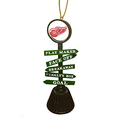 Team Sports America Detriot Red Wings Fan Crossing Ornament