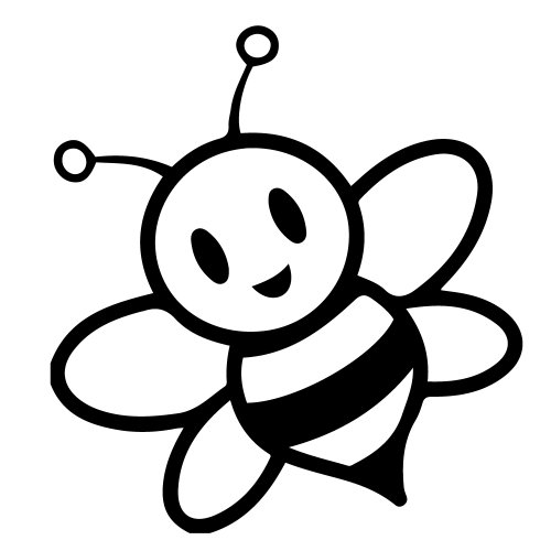 [#63] FLA Cute Bumblebee Bee Insect Stripes Kid Girl Vinyl Decal Sticker 5