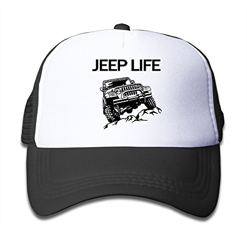 Jeep Life Adjustable Mesh Polyester Children Trucker Style Cap Black Halloween Holiday Gifts]()
