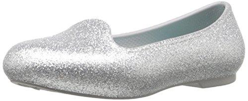 crocs Eve Sparkle Flat Flat (Toddler/Little Kid), Silver, 10 M US Little Kid