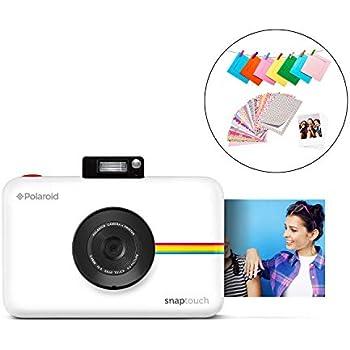 b1e86677e84 Polaroid SNAP Touch 2.0 - 13MP Portable Instant Print Digital Photo Camera  w/Built-In Touchscreen Display, White