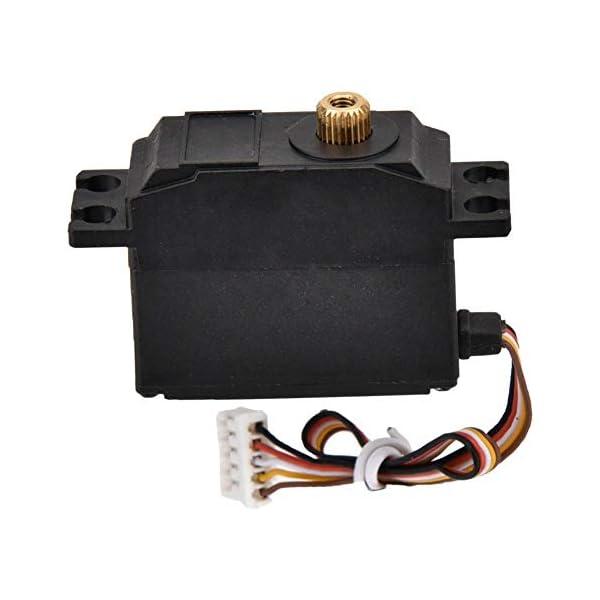 Drfeify Servo in Metallo per Auto RC,Servo in Metallo con Accessori Installazione per Wltoys 12428 12423 RC Auto 2 spesavip