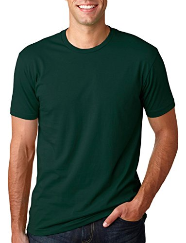 Next Level Mens Premium Fitted Short-Sleeve Crew T-Shirt - Large - Forest (Fitted Crew Shirt)