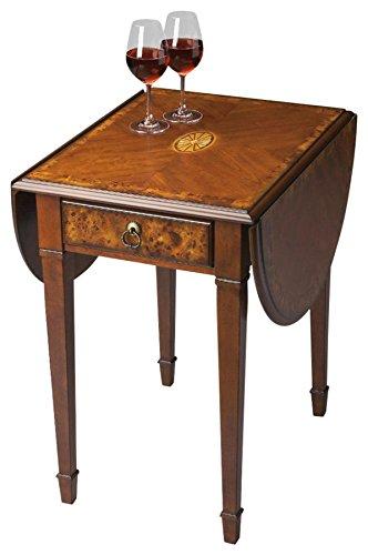 BUTLER 1576101 GLENVIEW OLIVE ASH BURL PEMBROKE TABLE (Desk Ash Burl)