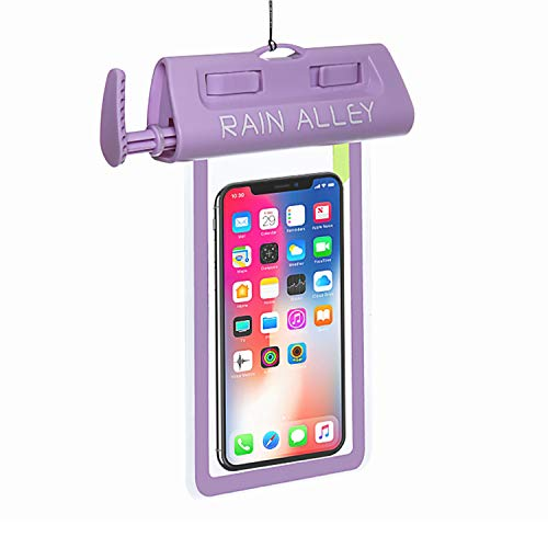 RAIN ALLEY Universal Waterproof Case, IPX8 Waterproof Phone Pouch Dry Bag with Air Suction Waterproof Test for iPhone X/8/8plus/7/7plus/6s/6/6s Plus Samsung Galaxy s8/s7 HTC10 LG up to 6.0 – Purple