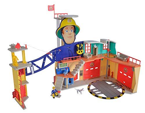 SIMBA109251059FEUERWEHRMANN SAM MEGA-FEUERWEHRSTATION XXL FIREMAN FIRE STATION 다채로운 0
