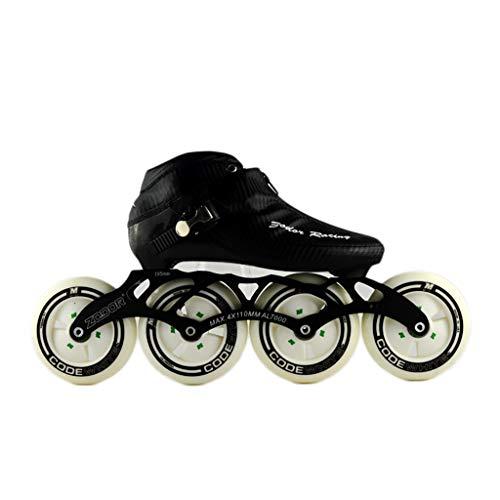 幻影ホイットニーパウダーNUBAOgy インラインスケート、90-110ミリメートル直径の高弾性PUホイール、3色で利用可能な子供のための調整可能なインラインスケート (色 : 黒, サイズ さいず : 35)