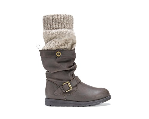 Muk Luks Womens Dalis Botte Marron / Flocons Davoine