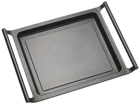 BRA Efficient - Plancha asador liso, 45 cm, aluminio fundido con antiadherente Teflon Platinum Plus