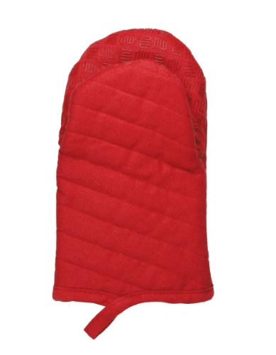 Mukitchen Silcone Grip Oven Mitt - Pepper Red - Mu Kitchen Cotton