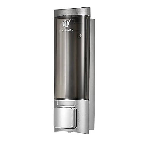 Anself CHUANGDIAN 200ml Wall Mount Manual Soap Dispenser Liquid Shampoo Shower Gel Hand Dispenser (Bathroom Shower Soap Dispenser)